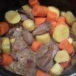 Filet d'agneau aux carottes et aux pommes de terres