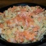 Tagliatelle au crevettes et au saumon