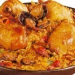 Paella poulet aux fruits de mer