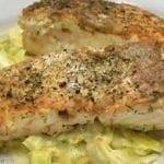 Pavés de saumon et de poireaux
