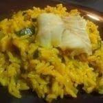 Cabillaud au riz et courgettes