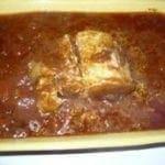 Rôti de porc en sauce