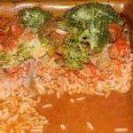 Riz aux brocolis et sauce tomate
