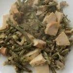 Poulet aux champignons et haricots verts