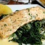 Filets de poisson aux épinard
