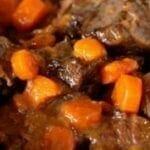 Rôti de boeuf aux carottes