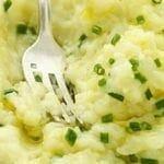 Ecrasé de pommes de terre à la ciboulette
