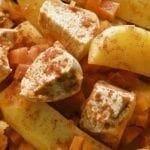 Ragoût de poulet aux pommes de terre et carottes